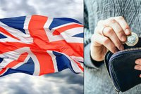 Británie spadla na úroveň Řecka. Má nejnižší růst platů z vyspělých zemí
