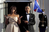 Otroci stavěli Bílý dům, já v něm žiju: Obamová řízla do otrokářské historie