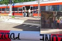 Muž ve vlaku zaútočil nožem i hořlavinou. Mezi sedmi zraněnými je i dítě (6)