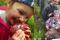 Otec nechal dceru sníst syrové srdce jelena, kterého sama zastřelila