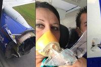 Hororový pohled z okénka letadla: Obřímu stroji během letu explodoval motor!