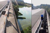 Vážně zraněný chlapec (19) ležel pod mostem na D5: Skočil, nebo spadl?