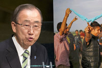 """Práva a životy uprchlíků chce chránit OSN. """"Průlom,"""" říká Pan Ki-mun"""
