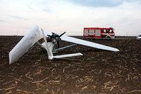 Na Uherskohradišťsku se zřítilo letadlo. Pilot nepřežil