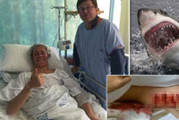 Surfaře pokousal 3,5metrový žralok, na noze mu vykousl kusy masa