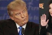 Zpěvačku Cher děsí Donald Trump: Jsem z něho traumatizovaná, říká