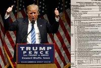 Kandidát na prezidenta USA Trump: 18 let neplatil daně!