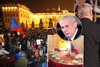 Pískání na Zemana, plný Staromák i hody na Hradě: Top momenty oslav 28. října