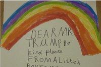 """Děti píší Trumpovi: """"Buďte laskavý, pane prezidente."""" Některé jdou dál"""