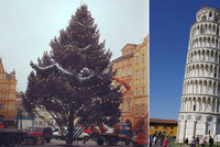 Ostudný vánoční strom v Českých Budějovicích: Je křivý a dole holý!