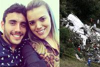 Manželka přeživšího fotbalisty z letadla smrti: Díky bohu, že je naživu!