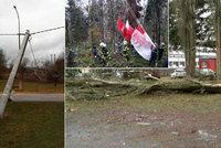 Víkendový vítr kosil vše, co mu stálo v cestě – hasiči museli zachraňovat paraglidistu ze stromu