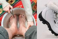 Péče o chodidla v zimě: Jak se vyhnout suché kůži i plísním?