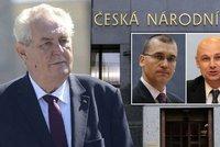 Zeman do vedení ČNB jmenuje Dědka a Moru. Babiše podpoří u Ústavního soudu
