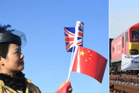 Z Číny do Británie za 18 dní: Nový nákladní vlak dorazil do Londýna