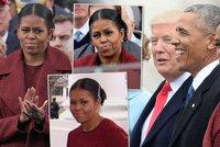 Nabroušená Michelle sledovala jmenování Trumpa: Je barometrem USA, píše tisk