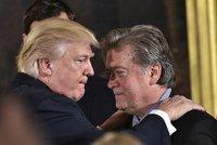 Pod Trumpovým stratégem Bannonem se houpe židle. Má nejasnou funkci a v týmu moc lidí
