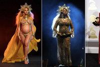 Víc Grammy vyhrála Adele, hvězdou ale byla Beyoncé: Proměny těhotné zpěvačky na galavečeru!