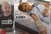 Nemocný Adámek (10) dostal cennou kostní dřeň! Nikolka a Kačenka na dárce stále čekají...