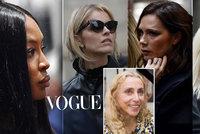 Mše za šéfku italského Vogue: Plakala Versace, Beckhamka, Naomi Campbell i božská Eva Herzigová!