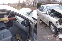 Nehoda řidiče na Zlínsku: Od smrti ho dělily centimetry!