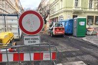 Další uzavírka na Žižkově: Ulice Na Jarově je neprůjezdná kvůli opravě horkovodu