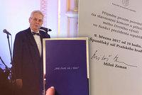 Zeman chce být znovu prezidentem. Video zachytilo, co řekl svým věrným