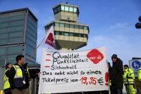 Další stávka na letištích v Berlíně. Z Prahy do německé metropole nedoletíte