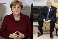 Trump přivítá Merkelovou v Bílém domě: Po EU a migraci společná večeře