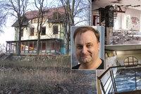 Vila padlého krále kovodžínoviny Hošny je na prodej za 25 milionů! Střídaly se tu hvězdy, teď je to ruina