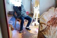 Byt nemocného seniora byl plný výkalů: Muž sociálku z bytu vyháněl a pomoc odmítal
