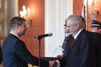 Vláda má půl roku před koncem nového ministra: Zeman jmenoval Havlíčka