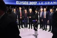 Lži, uprchlíci a ekonomická válka: Ve Francii se střetli kandidáti na prezidenta