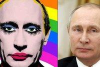"""Rusko zakázalo obrázek Putina jako """"gay klauna"""". Šiřitelům hrozí vězení"""