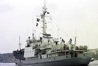 Ruská výzvědná loď šla ke dnu. Potopila se po srážce v Černém moři
