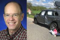 Smrt uznávaného amerického experta v Česku: U Mělníka jeho auto rozstřelil kamion