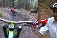 Český biker, kterého v létě na Slovensku naháněl medvěd, se šelmy nezalekl, míří zpět na lyžovačku