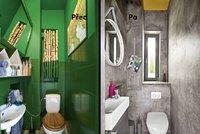 Proměna koupelny: Netradiční nátěr zdí! Jak se vám to líbí?