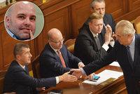 Politolog: Zeman ztrácí podporu, kryje to Kajínkem. Babiš si hraje na mučedníka