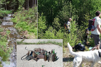 Tuna odpadků i lednička v Brdech: Turisté vyrazili do otevřené vojenské oblasti