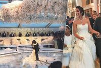 Luxusní svatba s milionem růží: Nejbohatší černoška provdala svého syna