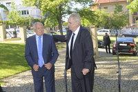 Klaus slaví 76. narozeniny. Dorazili Zeman, Duka, Hejma, Forejt i Bobošíková