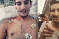Petr (23) po léčbě rakoviny u indiánů letí domů: Vyčerpáním v letadle hned usnul