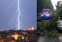 Silné bouřky řádí na Ostravsku, Pardubicku i jihu Čech. Sledujte radar