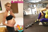 Mašlíková 7 týdnů před porodem: Teď se teprve přestává mučit ve fitku!