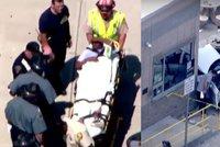 Taxík najel do lidí u mezinárodního letiště v Bostonu: Deset zraněných