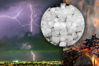 V Česku s létem udeří silné bouřky, krupobití i vichr. Sledujte radar