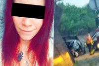 Otec zraněné Nikoly V. (22) z šíleného videa na místě nehody: Kde je moje dcera, můžu ji vidět?