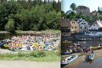 Tropy přilákaly na Vltavu davy lidí: Na jezech se čeká dvě hodiny!