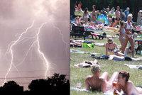 Bouřky v pondělí řádí v Čechách i části Moravy. Sledujte radar